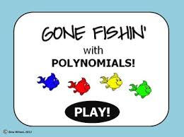 polynomial operations gone fishin u0027 game fish game and fun games