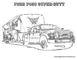 coloring pages of trucks and best truck and trailer coloring pages