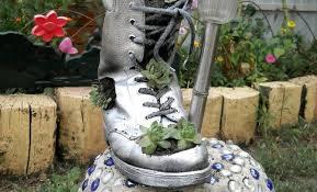 planter for succulents diy home garden decor idea with a shoe planter and succulents