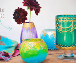 How To Paint Inside Glass Vases Get Crafty And Make Some Unique Candle Holders U2013 50 Ideas For A