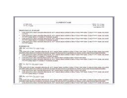 resume formatting