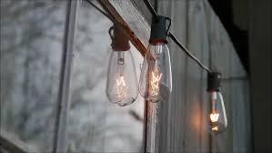Edison Bulb String Lights Edison Bulb String Lights Window Stock Footage 24442382