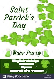 happy st patrick s day invitation poster flyer beer party