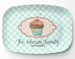 personalized serving platters cupcake platter etsy