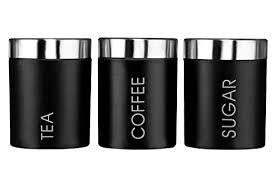 premier housewares liberty tea coffee and sugar canisters set
