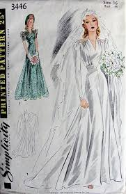 vintage wedding dress patterns 1940s wedding dress patterns 6864