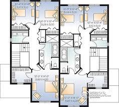 house plans open floor plan multi family plan w3032 v1 detail from drummondhouseplans com
