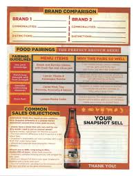 sheets comparison snapshot sell sheet back craft beer sell sheets pinterest