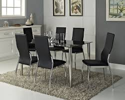 Black Modern Dining Room Sets Tiva Small Glass Dining Table Stunning Seater Tables Impressive