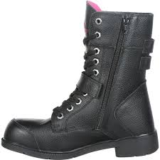 women s black motorcycle boots moxie trades amelia 8 inch aluminum toe women u0027s motorcycle work