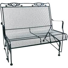 wrought iron patio furniture lowes garden bench small size of black