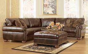 Cheap Large Sectional Sofas Living Room L Shaped Leather Sectional Sofa In Brown Witth