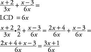 operations with algebraic fractions