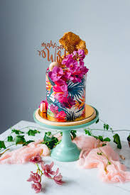 Tropical Theme Birthday Cake - one tier wedding cakes that are works of art brides