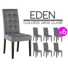 chaises grise altobuy lot 6 chaises gris clair pas cher achat vente