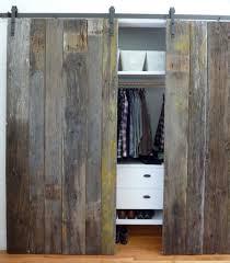 reclaimed wood closet doors pilotproject org