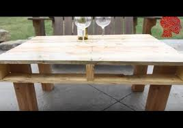 Outdoor Pallet Table Woodworking 2 U2013 Diy How To Make An Outdoor Pallet Table