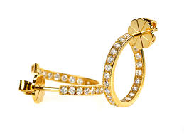 gold second studs earrings london diamond creole stud earrings 18ct gold