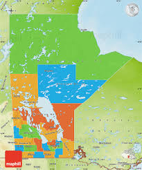Physical Map Of Canada by Political Map Of Manitoba Physical Outside
