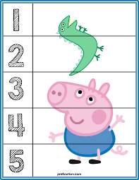 peppa pig number puzzles activities for toddlers with autism