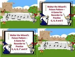 pattern practice games the wizard s poison pattern a bundle of games to practice the recorder