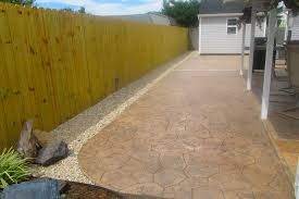 stamped concrete backyard ideas design and image on charming small