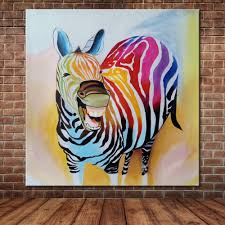 modern canvas art cartoon animal happy horse oil painting abstract modern canvas art cartoon animal happy horse oil painting abstract wall mural picture for children s room decoration no frame in painting calligraphy