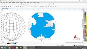 A World Map by Make A World Map Design In Corel Draw X7 Youtube