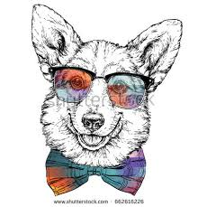 vintage retro hipster style sketch funny stock vector 662616226
