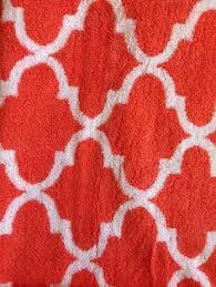 Orange Bathroom Rugs by Cynthia Rowley Quatrefoil Bath Rug Coral Orange And White Coral