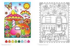 amazon com happy campers coloring book coloring is fun design