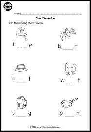 short vowels middle sounds worksheets and activities little