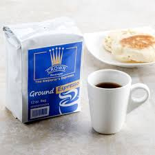 espresso coffee bag crown beverages emperor u0027s ground espresso 12 oz bag 6 case