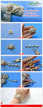 how to make handmade pink flower pearl bracelet with drop glass