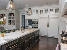 top transitional kitchen with built in pantry storage for a family