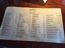blatt beer and table menu photo6 jpg picture of blatt beer table west omaha tripadvisor