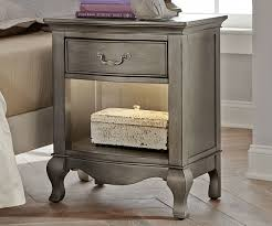 Antique Finish Bedroom Furniture Kensington Silver Finish Nightstand 30530 Ne Furniture