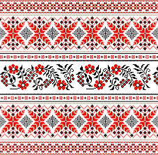 ukraine pattern vector ukraine style fabric pattern vector free vector in encapsulated