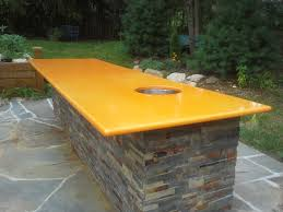 Outdoor Kitchen Countertop Ideas Outdoor Kitchen Best Counter Top Surface Enameled Lava Stone Made