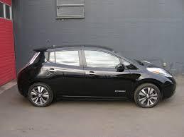 leaf nissan black paramount motors nw 2014 nissan leaf sl premium qc