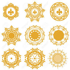 imagenes mandalas arabes set of yellow or gold mandalas with vegetable patterns and a