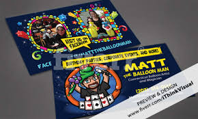 Magician Business Cards Create A Professional Stunning Original Business Card Or