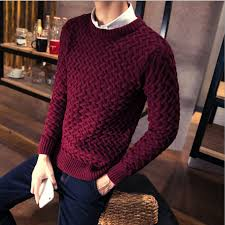 s casual leisure o neck warm knit sweater brand pullover