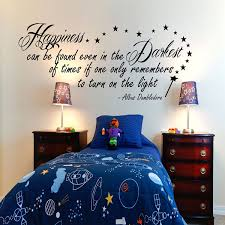 harry potter happiness can be found dumbledore inspirational wall harry potter happiness can be found dumbledore inspirational wall sticker quote 100x55 amazon co uk kitchen home