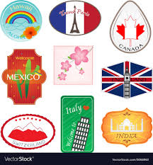 travel stickers images Travel stickers design collection royalty free vector image jpg