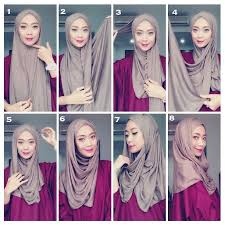 tutorial hijab simple tapi menarik gambar tutorial hijab modern casual simple