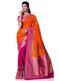 rani pink colour kanchipuram spun silk meghdoot women u0027s saree