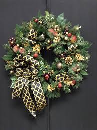 wreath black gold wreaths artificial wreath