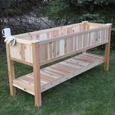 Western Red Cedar Outdoor Furniture by Elite Cedar 6 5 Ft X 2 Ft Western Red Cedar Raised Garden