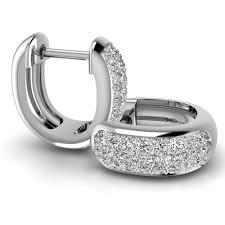 white gold diamond hoop earrings pair of cut diamond hoop earrings in 18ct white gold